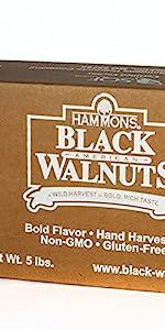 Hammons Black Walnuts Hand Harvest Bold Flavor
