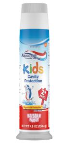 Aquafresh toothpaste bubble mint