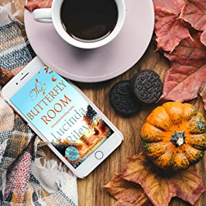 Lucinda Riley The Butterfly Room Lifestyle coffee and pumpkin autumn