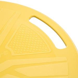 ウルトラスポーツ バランスボード 体幹トレーニング用 直径37cm, イエロー