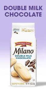 Double Milk Chocolate Milano has twice the amount of rich, milk chocolate.