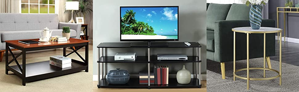 coffee table tv stand end table traditional modern living family room bedroom
