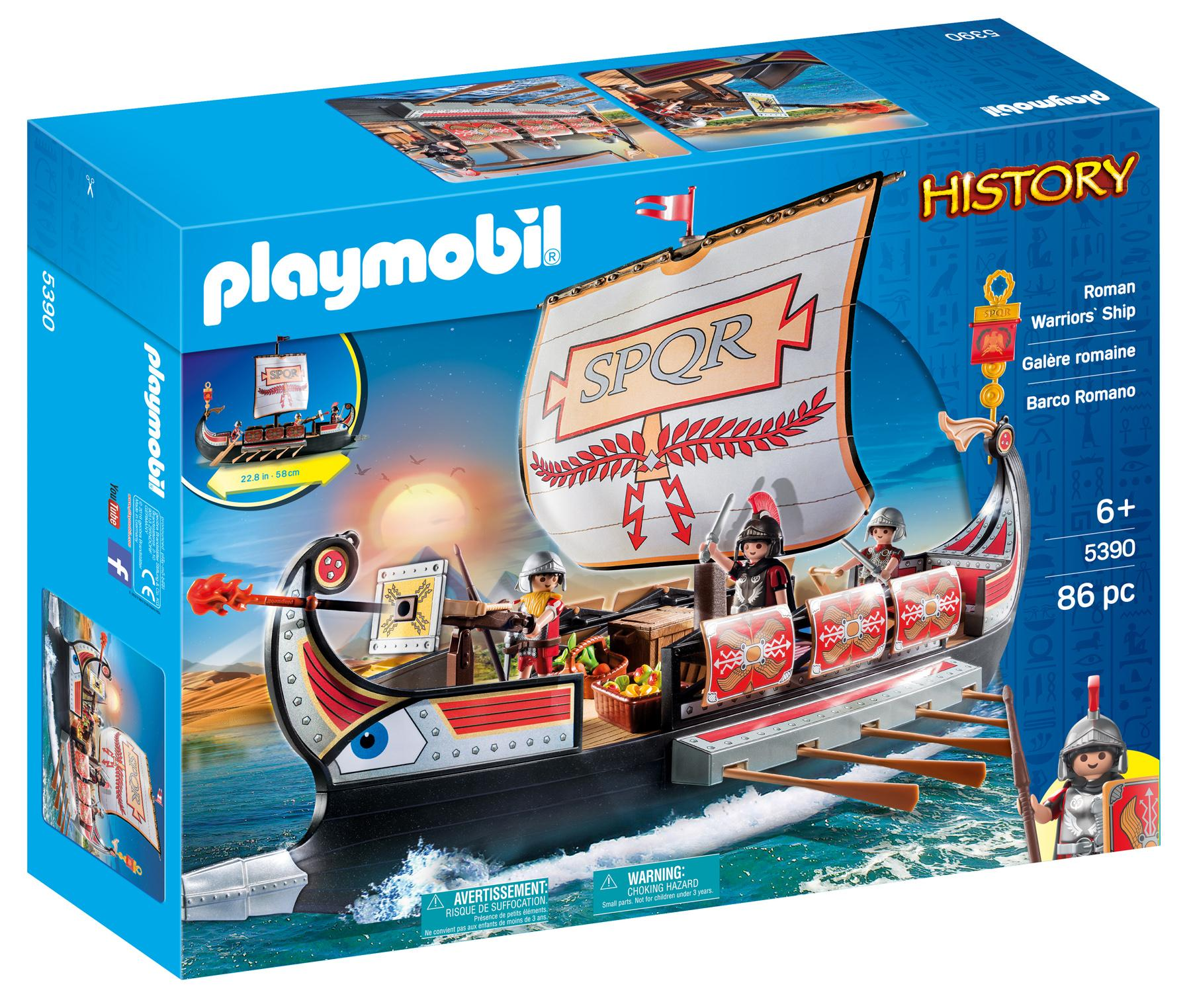 Amazon Com Playmobil Roman Warriors Ship Toys Amp Games