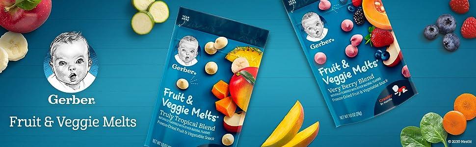 Gerber Fruit and Veggie Melts