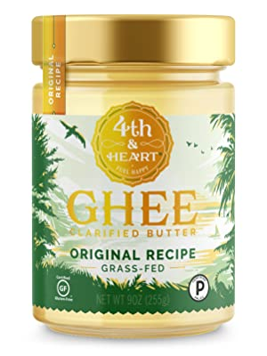 fourth and heart 4th grass fed pasture raised ghee butter clarified lactose free casein original