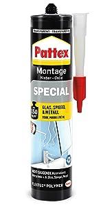 Pattex speciale montagelijm montage monteren ophangen ophangen bevestigen plakken sterk