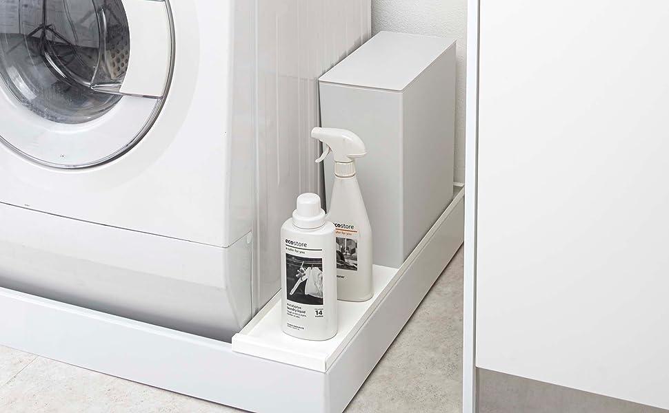 【山崎実業】洗濯機防水パン上ラック プレート ホワイト 4968