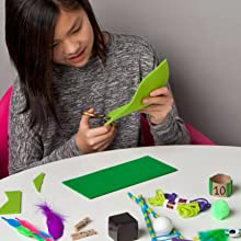 Kid crafting with idea starters