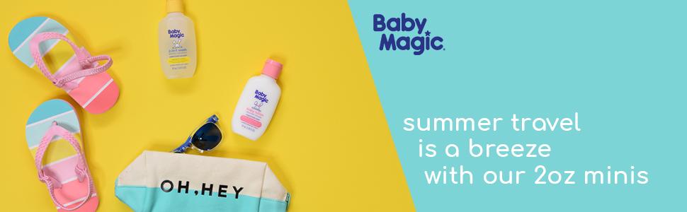 Baby Magic 2oz Travel Size mini minis summer essentials 2-in-1 wash baby lotion bath