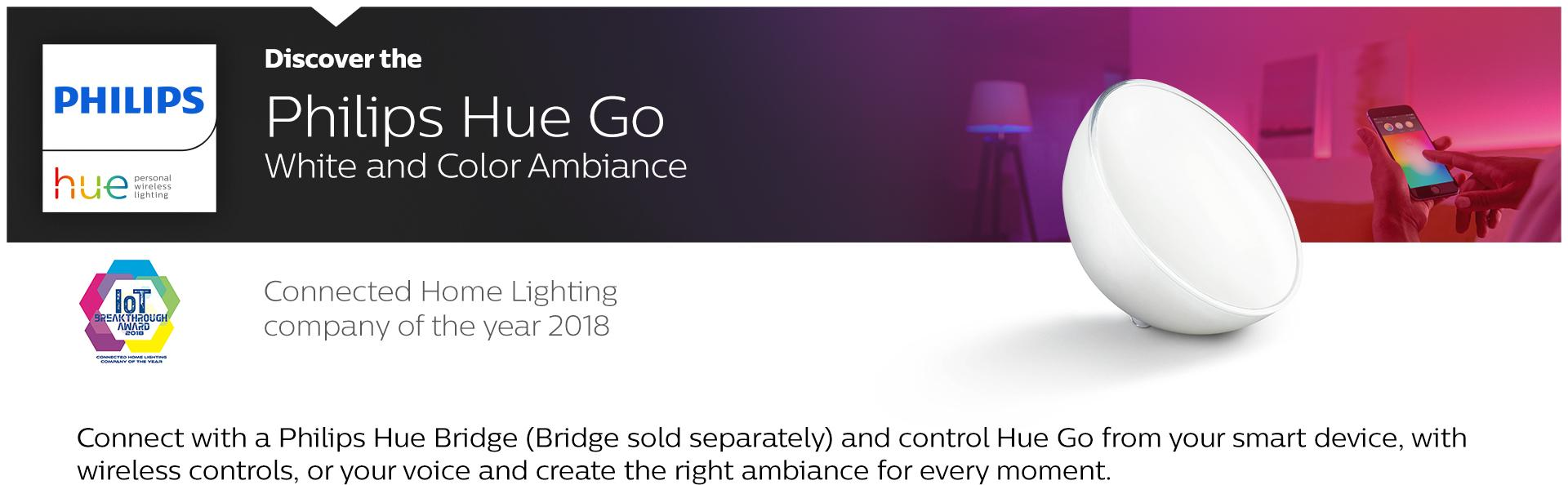 Philips Hue Go White And Color Portable Dimmable Led Smart