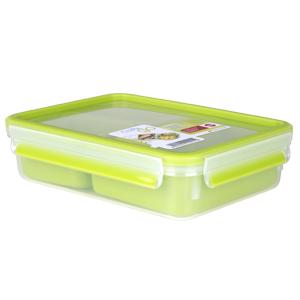 Emsa Clip&Go Snack - Recipiente hermético de plástico con 3 ...