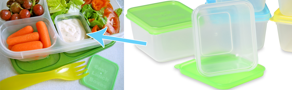 easylunchboxes, mini dipper, dip, sauce, dressing, container, small, leakproof, bento