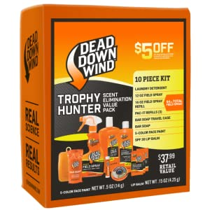 Trophy Kit Dead Down Wind Hunting Laundry Detergent Field Spray Soap Face Paint Lip Balm