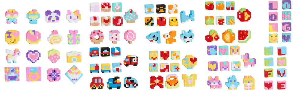 Bandai Pretty Pixels Krazy Pixels Fabrique à Gommes Set De Luxe Loisirs Créatifs 38531