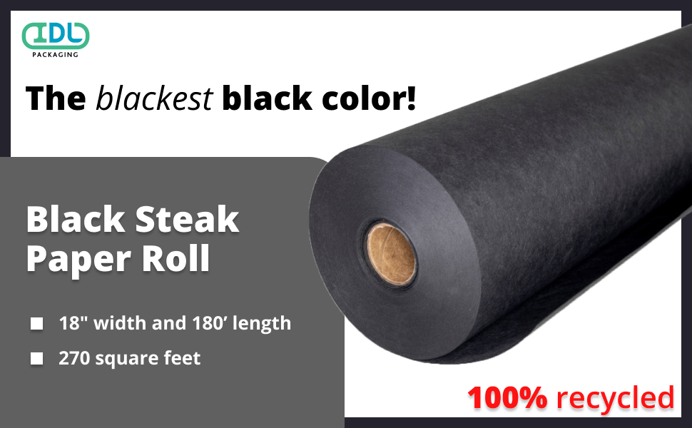 black steak paper