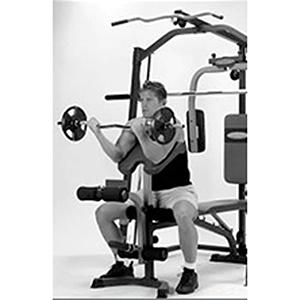Marcy Smith machine MP3100, Rack de musculación multifunción, Sentadillas con Peso Guiado, Polea alta y baja, Pec Dec, Barra EZ, Banco de musculación ...