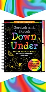 Capture The Trip in Nature Through Art and Discovery /& The Outdoors 1xBook Glacier National Park Kids Sketch Journal with UV Sticker Lakes Drawing Activities as They Experience Mountains