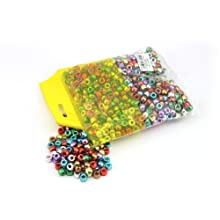Metallic Plastic Pony Beads