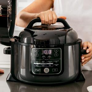 Ninja OP401 Foodi 8-Quart Pressure, Steamer, Air Fryer All-in-One Multi-Cooker, Black/Gray
