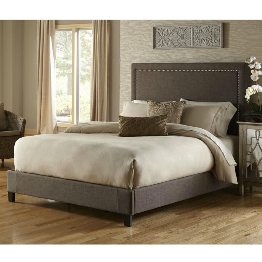 Amazon Com Pulaski Corbin Upholstered Bed Square Nailhead