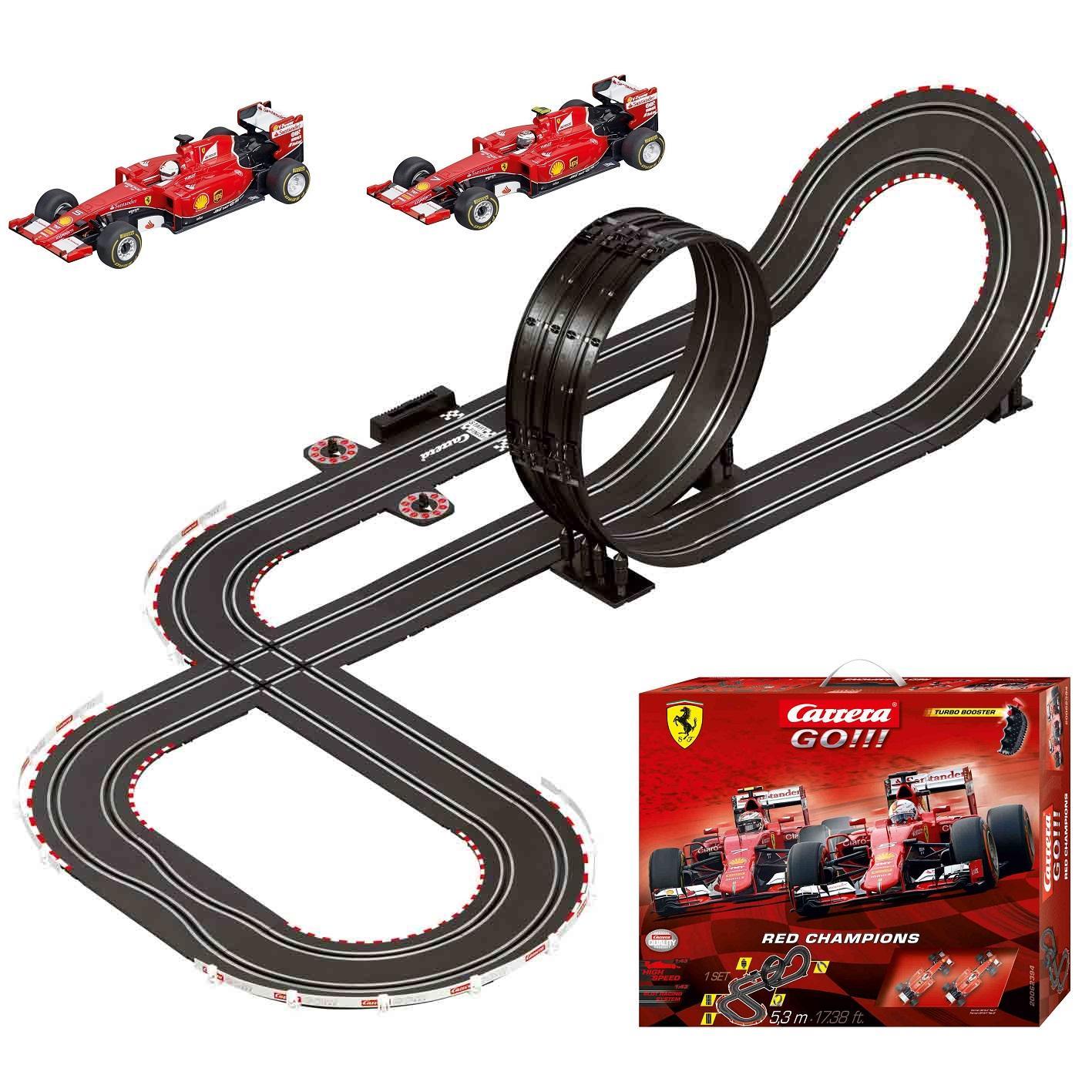 Amazon.com: Carrera GO!!! Ferrari Red Champions Slot Car