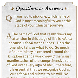 Question and Answer with Tony Evans, Bible questions, answers to tough Bible questions