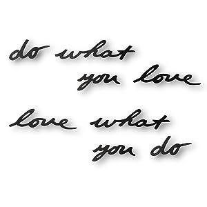 Umbra - Palabras para pared do what you love, color negro