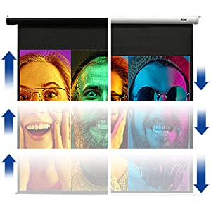 elite screens electric motorized wall ceiling up down home theater movie easy setup remote control