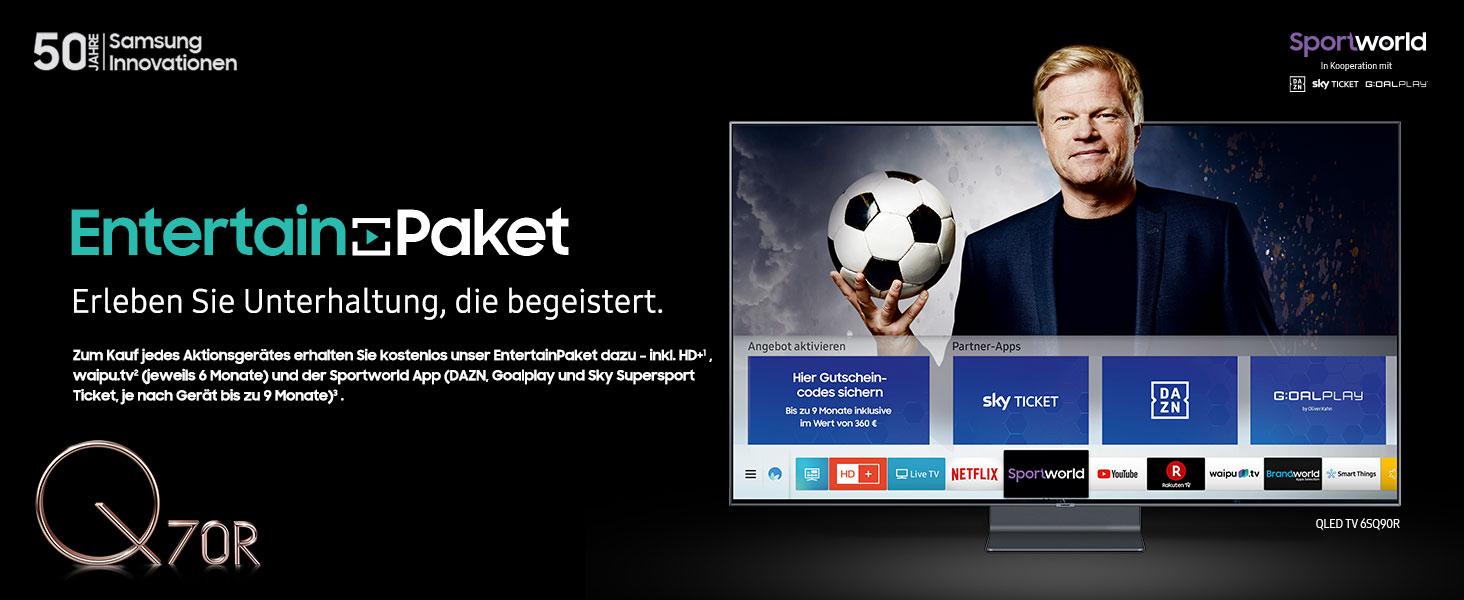 Samsung GQ82Q70RGTXZG 207 cm (82 Zoll) Flat QLED TV Q70R
