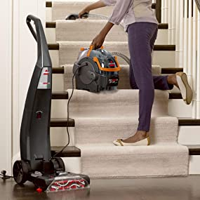 carpet shampooer, carpet washer, upholstery cleaner; carpet cleaner; hoover; stain remover; bisell