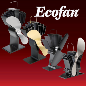 Ecofan UltrAir  Heat Powered Stove Fan  Authentic 2 Blade Canadian Design   Gold
