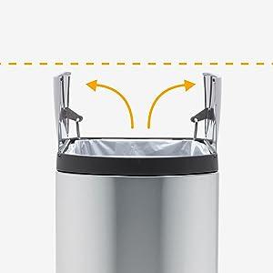 Amazon.com: SimpleHuman Cesto de basura con pedal, abertura ...