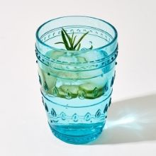 Fez Turquoise Highball Drinking Glass