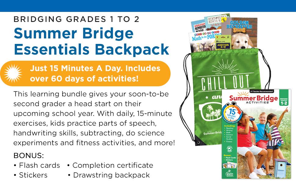Summer Bridge Essentials Backpack with product description