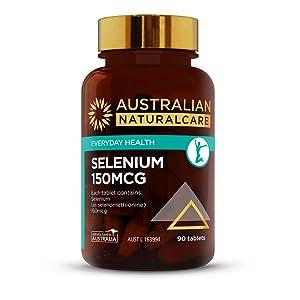 Australian NaturalCare - General Health Support - 150mcg Selenium Tablets (90 Tablets)