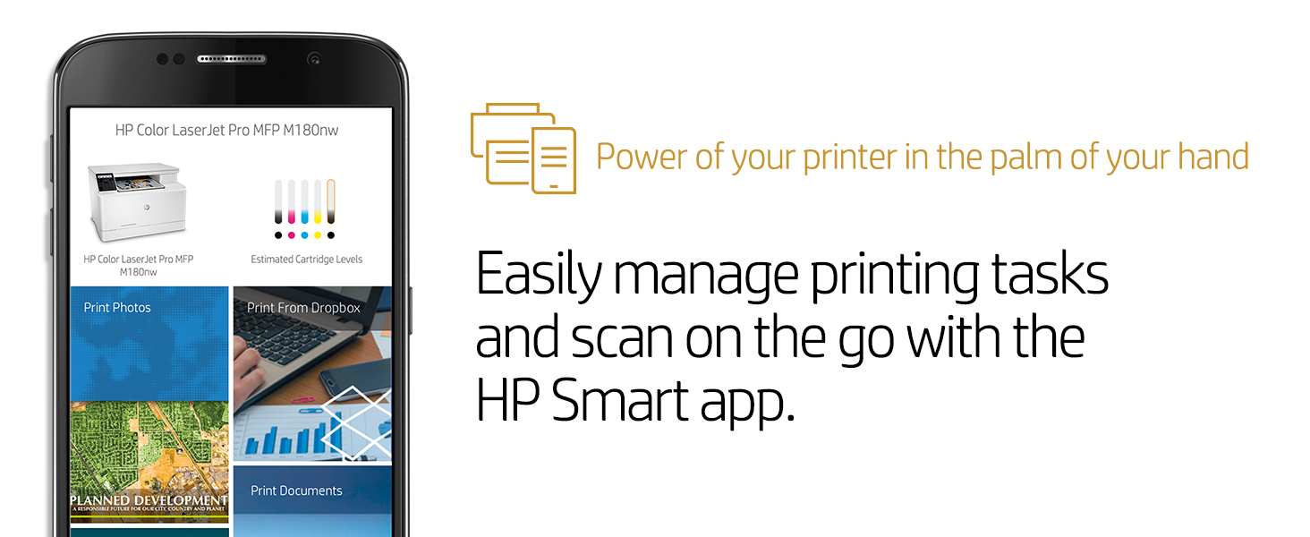 HP Color Laserjet Pro M180nw All in One Wireless Color Laser Printer,  Amazon Dash Replenishment ready with Mobile Printing & Built-in Ethernet