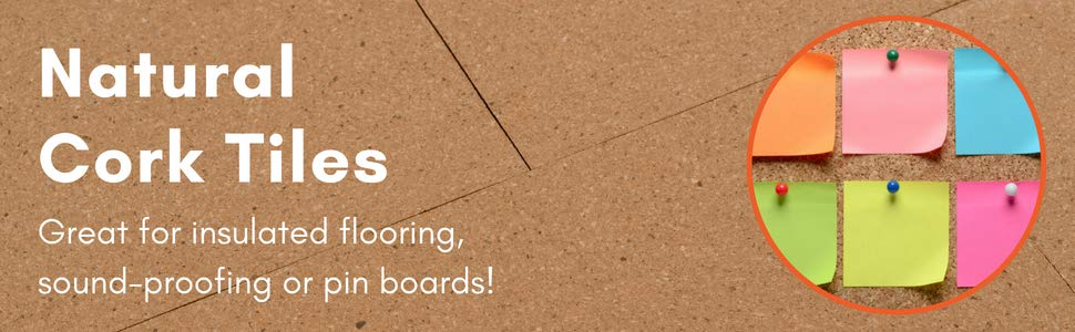 Pin Boards /& Craft Projects 6.75 sqm coverage Pack of 75 - 300x300mm  Tiles DIY Walls Cork Tiles Natural Great for Floors Acts as Sound Proofing /& Insulation