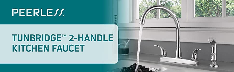Peerless, 2-handle, two handle, kitchen faucet, kitchen sink faucet
