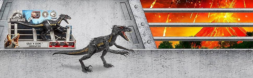 MATTEL-Jurassic World Villain Dino-indoraptor cattivo Dino Dinosauri