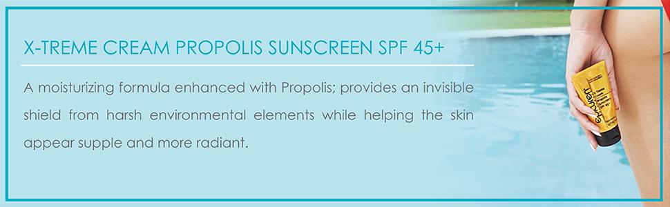 sun screen, sun block, propolis sun screen
