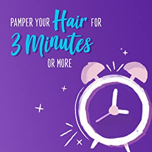 Pamper your hair for 3 minutes or more