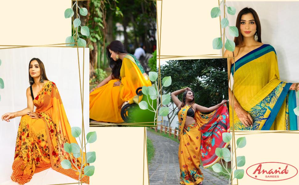 Anand Sarees, sarees for women, Women's sarees