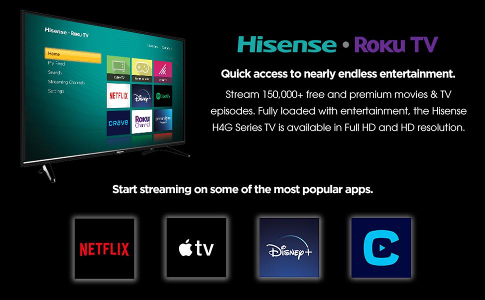 Hisense Roku TV, Popular Apps, Disney +