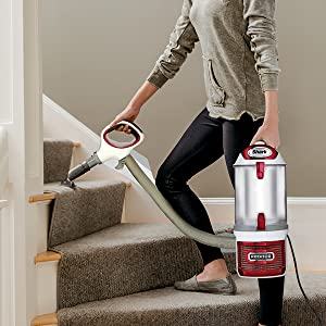 Lift-Away Vacuum on stairs