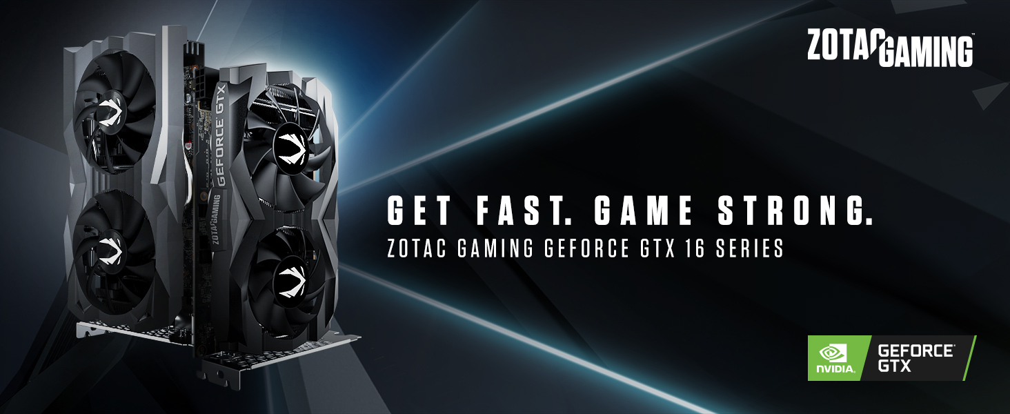 ZOTAC GAMING GeForce GTX 1660 6GB GDDR5 192-bit Gaming Graphics Card, Super Compact, ZT-T16600F-10L