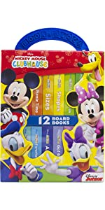 Mickey Mouse Clubhouse - My First Library Board Book Block 12-Book Set