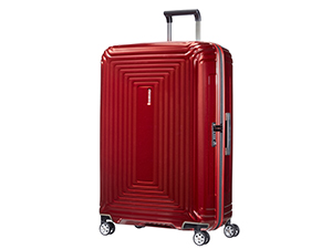 samsonite; neopulse; spinner; spinner 75; spinner l; maleta; maleta dura; maleta metallic red