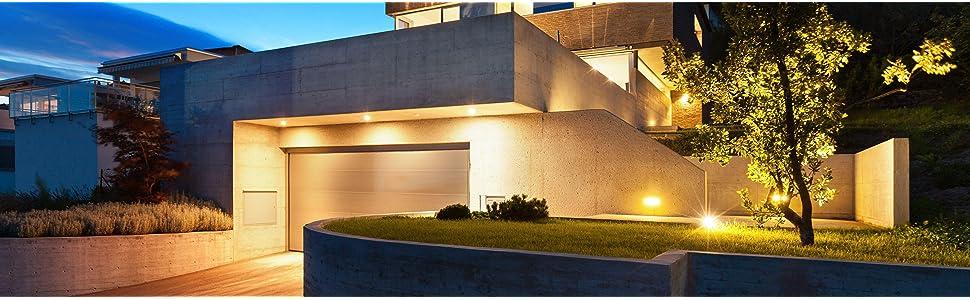 Flutlicht voll schwenkbar Smart Friends-Hausautomation Steinel Smart Home LED Au/ßenstrahler XLED Home 2 Z-Wave schwarz