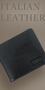 イタリアンレザー エンボス 二つ折財布