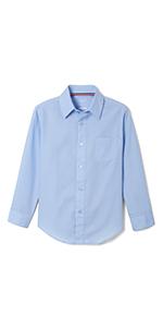 shirts button up down church boys dress-up uniform boys